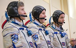 Thomas Pesquet - Pesquet(far right) during Soyuz qualification exams