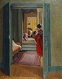 Félix Vallotton, 1903 - Intérieur avec femme en rouge de dos.jpg