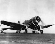 F4U-1 VMF-213 on USS Copahee 1943