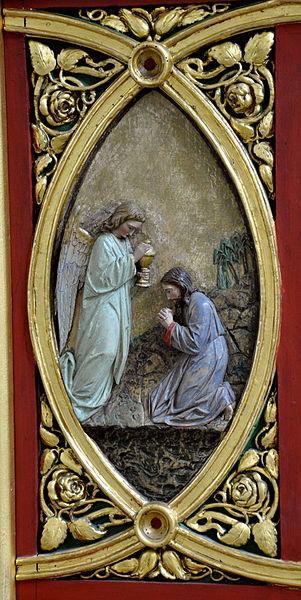 File:FN Ailingen Pfarrkirche Choraltar Unterbau Relief 1.jpg