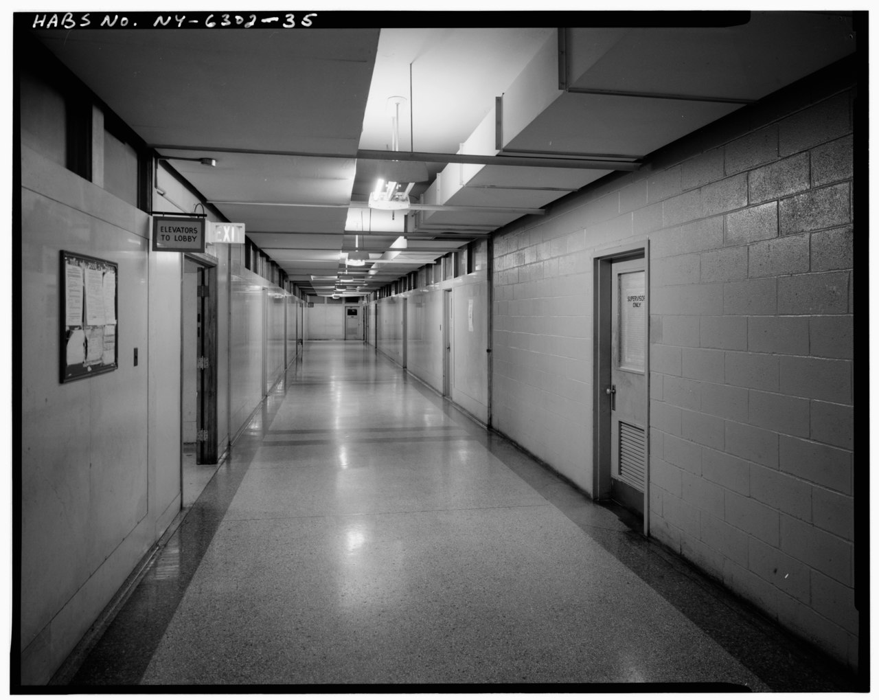 File fourth floor looking east in typical corridor for 130 william street 5th floor