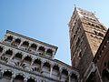 Façana i campanar, catedral de Lucca.JPG