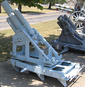 Mortier de 150 mm T Mle 1917 Fabry - A Fabry Trench Mortar at the U.S. Army Field Artillery Museum, Ft. Sill, OK