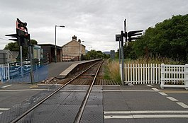 Fairbourne Station from the Level Crossing - geograph.org.uk - 1396650.jpg