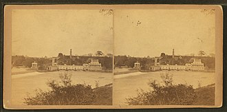 Fairmount Water Works - Image: Fairmount from West Philadelphia, by Newell, R., d. 1897