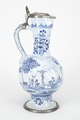 Fajans, kanna med lock, 1700-tal - Hallwylska museet - 90466.tif