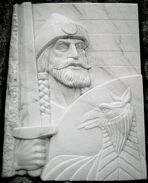 Fajsz - A relief showing him in Fajsz (Hungary)