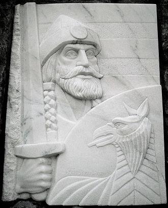 Fajsz - A relief showing him in Fajsz (Hungary)
