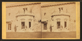 Family posing in front and in the balcony of stone house, from Robert N. Dennis collection of stereoscopic views 8.png