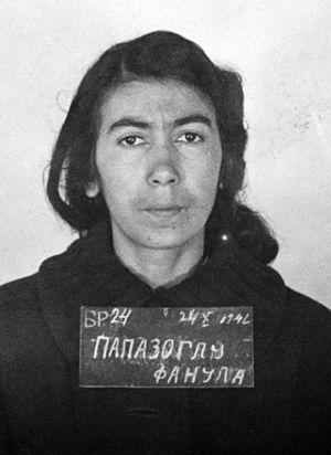 Fanula Papazoglu - Fanula Papazoglu imprisoned at the Banjica concentration camp, 1942
