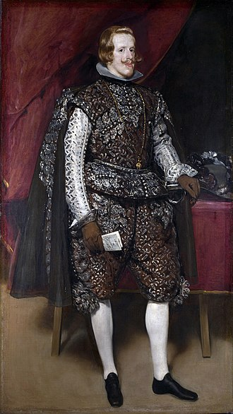 Philip IV of Spain - Philip IV at the height of his success, painted c. 1631-2 by Diego Velázquez.
