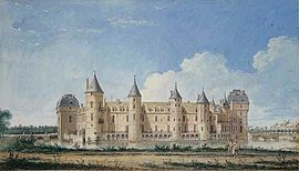 View of Ferté-Vidame castle, before 1750, Louis-Nicolas van Blarenberghe