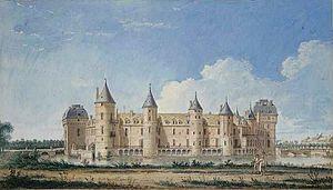 Jean de Ferrières - Depiction of one of the Vidame's residences, the Château de la Ferté Vidame, before 1750