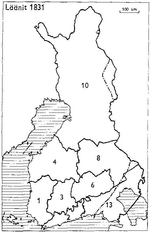 Finnish counties 1831