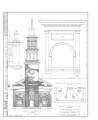 First Congregational Society Church, Pearl Street and Elmwood Avenue, Burlington, Chittenden County, VT HABS VT,4-BURL,1- (sheet 2 of 6).png