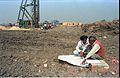 First Piling - Convention Centre Complex Under Constrution - Science City Site - Calcutta 1994-01-29 417.JPG