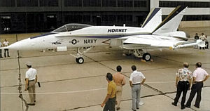 McDonnell Douglas F/A-18 Hornet - The first pre-production F-18A on display in October 1978.
