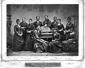 Fisk Jubilee Singers - The Fisk Jubilee Singers in 1882