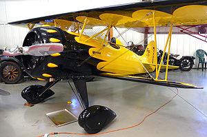 Historic Aircraft Restoration Museum - Image: Flagg biplane