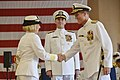Flickr - Official U.S. Navy Imagery - Vice Adm. Robin Braun shake hands with Vice Adm. Dirk Debbink..jpg