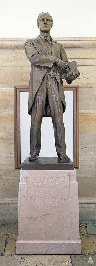 Charles Brantley Aycock (Keck) - The statue in the National Statuary Hall Collection