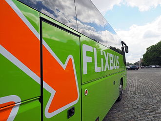 Flixbus - A bus in the brand's green livery