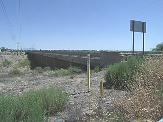 Florence, Arizona - The historic Florence Bridge originally built in 1885 over the Gila River and rebuilt in 1909.