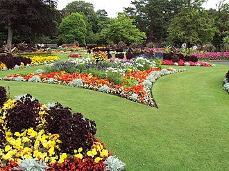 Flower garden - Flower garden at the Botanic Gardens, Churchtown, Southport, Merseyside, England