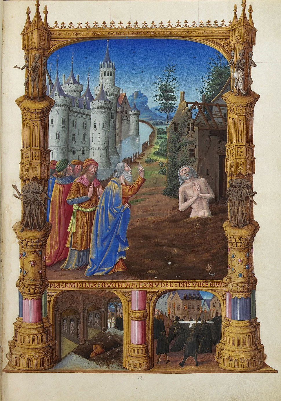 Folio 82r - Job Mocked by His Friends