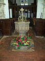 Font, St Andrew's Church, Nether Wallop - geograph.org.uk - 1044219.jpg