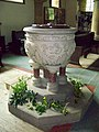 Font at St Hilda's Church, Egton - geograph.org.uk - 595868.jpg