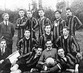 Football, tableau, men, sport jersey, soccer team, soccer ball Fortepan 3443.jpg