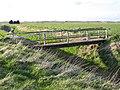 Footbridge over Kirton Drain, Kirton End, Lincs - geograph.org.uk - 154812.jpg