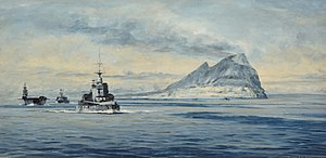Force H off Gibraltar Rowland Lang hc1582 large.jpg