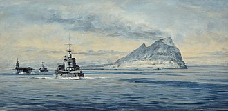 Force H - Force H off Gibraltar in 1940 by Rowland Langmaid