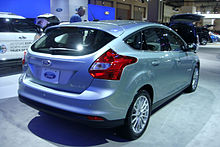 2017 Focus Electric S Rear View
