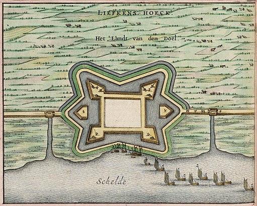 Fort Liefkenshoek - Liefkens Hoeck (Atlas van Loon)