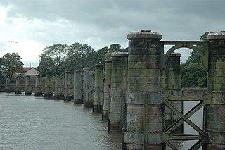 Alloa Swing Bridge demolished railway swing bridge in Scotland