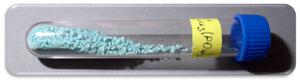 Copper(II) phosphate - Image: Fosforečnan měďnatý