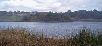 Piner Creek - Fountaingrove Lake, the origin of Piner Creek