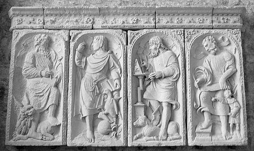 Four Evangelists in Mont Saint-Michel (France)