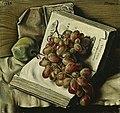 François Barraud - Nature morte aux raisins, à la pomme et aux deux livres.jpg