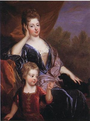 Henri, Count of Brionne - Henri's wife with their son Louis, 1697, François de Troy.