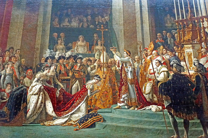 Photo of public use painting taken by Dennis Jarvis Coronation of Napoleon, CC BY-SA 2.0,