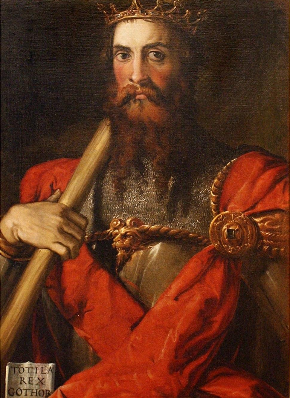 Francesco Salviati - Portrait of Totila, c. 1549