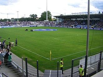 Stadion am Bornheimer Hang - Image: Frankfurter Volksbank Stadion Innenraum