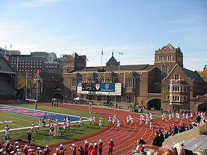Franklin Field - Fieldhouse at the west end of the field
