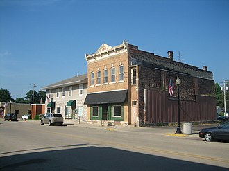 Franklin Grove, Illinois - The small commercial district in Franklin Grove