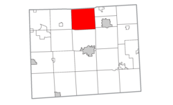Location within Lenawee County