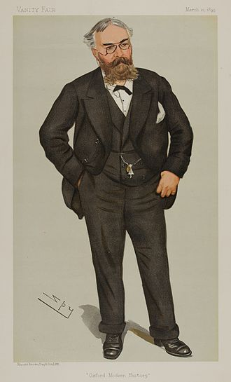 Frederick York Powell - Powell as caricatured by Spy (Leslie Ward) in Vanity Fair, March 1895